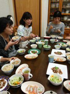 浜松市東区の料理教室「ゆうこの台所」食事会